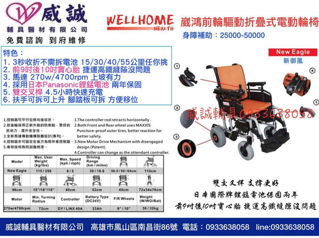 折疊式電動輪椅
